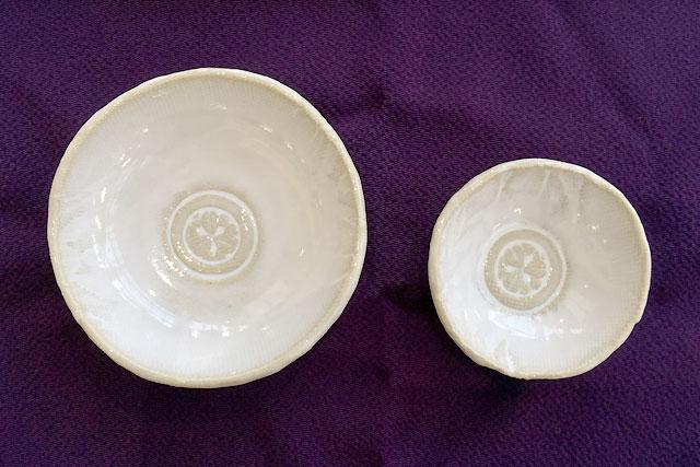 【歴食】豆皿(丸に久枚笹)