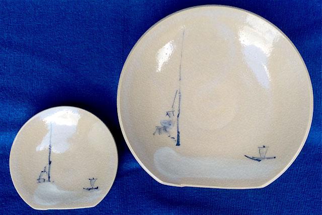 【歴食】雪舟風絵皿